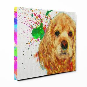【Watch】 アメリカンコッカースパニエル Sサイズ ワンにゃんアートキャンバス Huge series (絵画/アート/犬)|wan-nyan-gallery
