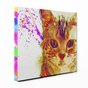 【Watch】 アメリカンショートヘア Mサイズ ワンにゃんアートキャンバス Huge series (絵画/アート/猫)|wan-nyan-gallery