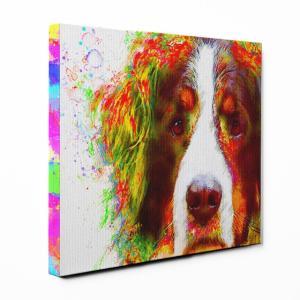 【Watch】 バーニーズマウンテンドッグ Sサイズ ワンにゃんアートキャンバス Huge series (絵画/アート/犬)|wan-nyan-gallery