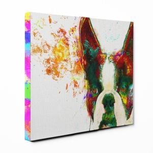 【Watch】 ボストンテリア Lサイズ ワンにゃんアートキャンバス Huge series (絵画/アート/犬)|wan-nyan-gallery