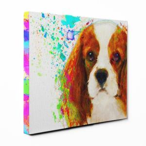 【Watch】 キャバリアキングチャールズスパニエル Sサイズ ワンにゃんアートキャンバス Huge series (絵画/アート/犬)|wan-nyan-gallery