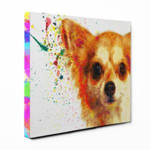 【Watch】 チワワ Sサイズ ワンにゃんアートキャンバス Huge series (絵画/アート/犬)|wan-nyan-gallery