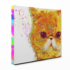 【Watch】 エキゾチックショートヘア Lサイズ ワンにゃんアートキャンバス Huge series (絵画/アート/猫) wan-nyan-gallery