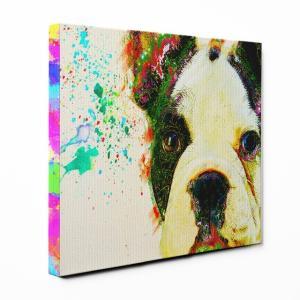 【Watch】 フレンチブルドッグ Lサイズ ワンにゃんアートキャンバス Huge series (絵画/アート/犬)|wan-nyan-gallery