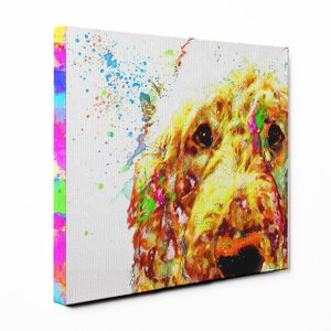 【Watch】 ゴールデンドゥードル Sサイズ ワンにゃんアートキャンバス Huge series (絵画/アート/犬) wan-nyan-gallery