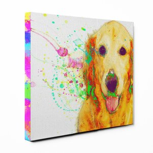 【Watch】 ゴールデンレトリバー Sサイズ ワンにゃんアートキャンバス Huge series (絵画/アート/犬)|wan-nyan-gallery
