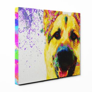 【Watch】 ジャーマンシェパードドッグ Sサイズ ワンにゃんアートキャンバス Huge series (絵画/アート/犬)|wan-nyan-gallery
