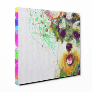 【Watch】 ミニチュアシュナウザー Sサイズ ワンにゃんアートキャンバス Huge series (絵画/アート/犬)|wan-nyan-gallery