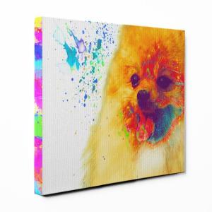 【Watch】 ポメラニアン Sサイズ ワンにゃんアートキャンバス Huge series (絵画/アート/犬)|wan-nyan-gallery