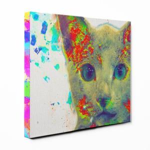 【Watch】 ロシアンブルー Mサイズ ワンにゃんアートキャンバス Huge series (絵画/アート/猫)|wan-nyan-gallery
