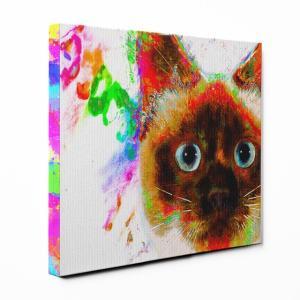 【Watch】 シャム猫 Lサイズ ワンにゃんアートキャンバス Huge series (絵画/アート/猫)|wan-nyan-gallery