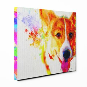 【Watch】 ウェルシュコーギーSサイズ ワンにゃんアートキャンバス Huge series (絵画/アート/犬)|wan-nyan-gallery