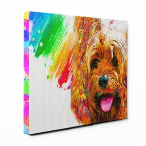 【Watch】 ヨークシャテリアLサイズ ワンにゃんアートキャンバス Huge series (絵画/アート/犬)|wan-nyan-gallery