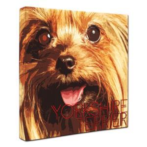 【IMPACT -color-】 ヨークシャテリア Lサイズ ワンにゃんアートキャンバス (絵画/犬/インテリア雑貨/グッズ)|wan-nyan-gallery