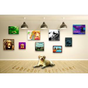 【ラブラドールレトリバー -Interior SML 3Package-】 ワンにゃんアートキャンバス  S×1 M×1 L×1 の3点セット (絵画/犬/インテリア雑貨)|wan-nyan-gallery