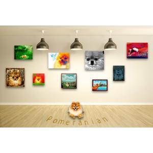【ポメラニアン -Interior SML 3Package-】 ワンにゃんアートキャンバス  S×1 M×1 L×1 の3点セット (絵画/犬/インテリア雑貨)|wan-nyan-gallery