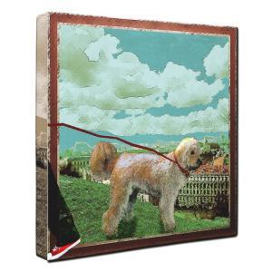 【Take it easy】 ゴールデンドゥードル Sサイズ ワンにゃんアートキャンバス Osanpo series (絵画/犬/インテリア雑貨/グッズ) wan-nyan-gallery