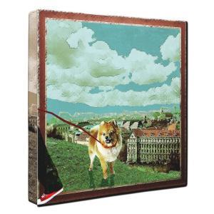 【Take it easy】 ポメラニアン Lサイズ ワンにゃんアートキャンバス Osanpo series (絵画/犬/インテリア雑貨/グッズ)|wan-nyan-gallery