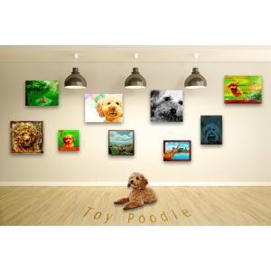 【トイプードル -Interior SML 3Package-】 ワンにゃんアートキャンバス  S×1 M×1 L×1 の3点セット (絵画/犬/インテリア雑貨)|wan-nyan-gallery