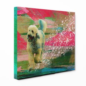 【Full of life】 ゴールデンドゥードル Mサイズ ワンにゃんアートキャンバス Vivid series (絵画/アートパネル/犬) wan-nyan-gallery