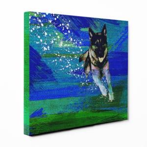 【Full of life】 ジャーマンシェパードドッグ Lサイズ ワンにゃんアートキャンバス Vivid series (絵画/アートパネル/犬)|wan-nyan-gallery