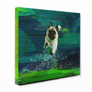 【Full of life】 パグ Mサイズ ワンにゃんアートキャンバス Vivid series (絵画/アートパネル/犬)|wan-nyan-gallery
