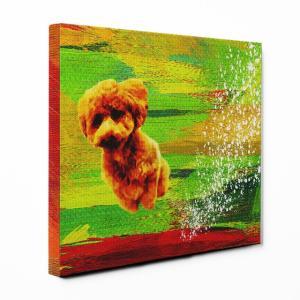 【Full of life】 トイプードル Sサイズ ワンにゃんアートキャンバス Vivid series (絵画/アートパネル/犬)|wan-nyan-gallery