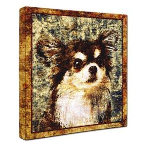 【Sit!】 チワワ Sサイズ ワンにゃんアートキャンバス Vintage series (絵画/犬/インテリア雑貨/グッズ)|wan-nyan-gallery