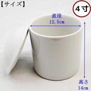 ペット仏具 骨壷 白 4寸 陶器 日本製の詳細画像1