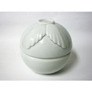 ペット仏具 天使のやすらぎ 一体型香炉・ろうそく立て(陶器)日本製