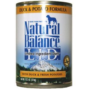 ダイエット缶フード ダック&ポテト 369g  ナチュラルバランス  犬用缶詰|wan-nyan-olive