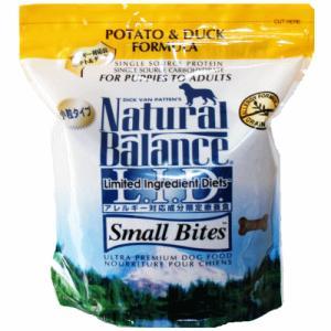 ポテト&ダック スモールバイツ 小粒 4ポンド(1.82kg) ドッグフード ナチュラルバランス アレルギー用|wan-nyan-olive