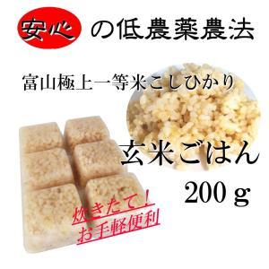 玄米ごはん/解凍するだけ簡単ごはん,お試しサイズ/小分けトレー200g入り トッピングや手作り食の材料に,アレルギー対応