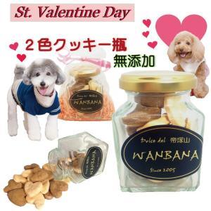犬用 バレンタインデー ギフト  2色 クッキー 瓶 1個 ...