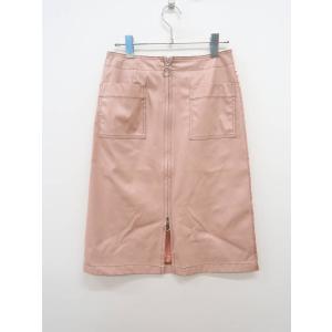 MICOAMERI(ミコアメリ)フェイクレザージップスリットスカート ピンク レディース Aランク ...