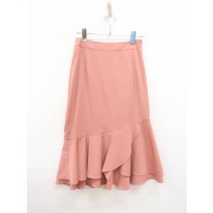 MICOAMERI(ミコアメリ)裾フレアスカート ピンク レディース 新品 M [委託倉庫から出荷]