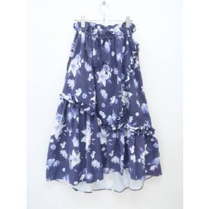 MICOAMERI(ミコアメリ)花柄スカート 紺/白 レディース Aランク F [委託倉庫から出荷]