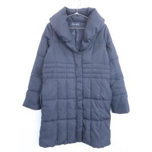 MISCH MASCH(ミッシュマッシュ)ボリュームカラーロングダウンコート 七分袖 黒 レディース 38|wanboo