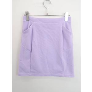 Heather(ヘザー)リブタイトスカート 紫 レディース A-ランク F|wanboo