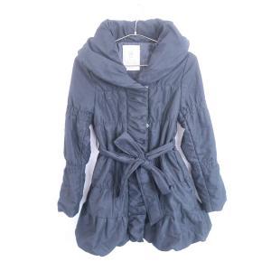 RecHerie(リシュリエ)ショールカラー中綿コート 長袖 黒 レディース M|wanboo