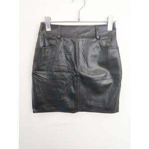 GYDA(ジェイダ)合皮スカート 黒 レディース Aランク M