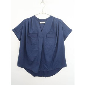 DURER(デュレル)バック切替スキッパーシャツ 半袖 紺 レディース Aランク F|wanboo