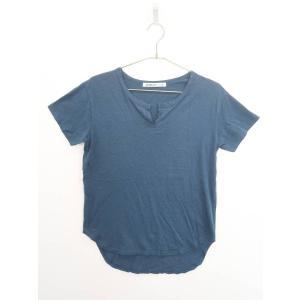 Avan Lily(アヴァンリリィ)CHICK キーネックTシャツ 半袖 青 レディース Aランク F|wanboo