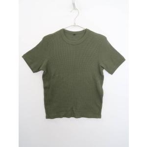 UNIQLO(ユニクロ)サーマルTシャツ 半袖 緑 レディース Aランク S|wanboo