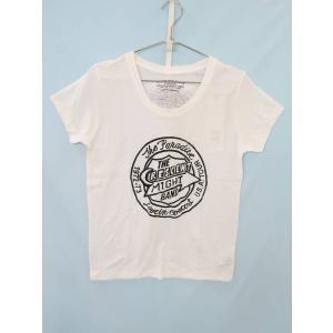 MOUSSY(マウジー)プリントTシャツ 半袖 紺/オレンジ レディース 新品 2|wanboo