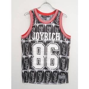 JOYRICH(ジョイリッチ)Coca-Colaメッシュタンクトップ ノースリーブ 黒/白 レディース A-ランク S wanboo