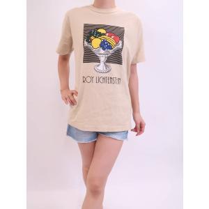 UNIQLO(ユニクロ)リキランシュタイングラフィックプリントTシャツ 半袖 黄 メンズ A-ランク S|wanboo