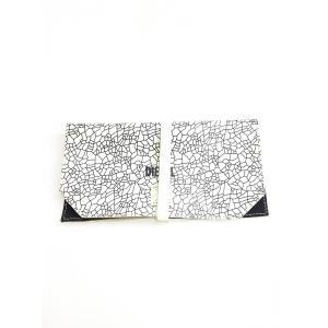 DIESEL(ディーゼル)レザーロールペンケース 白/黒 レディース|wanboo