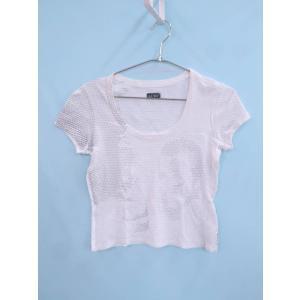 ARMANI JEANS(アルマーニジーンズ)プリントTシャツ フレンチスリーブ 白 レディース A...