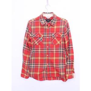 AKM(エイケイエム)チェックシャツ 長袖 赤 黄 メンズ Bランク L|wanboo